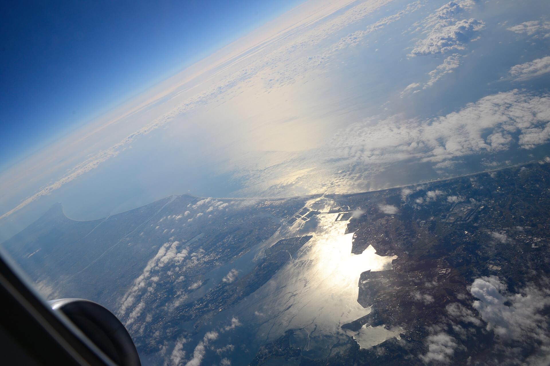 浜名湖上空
