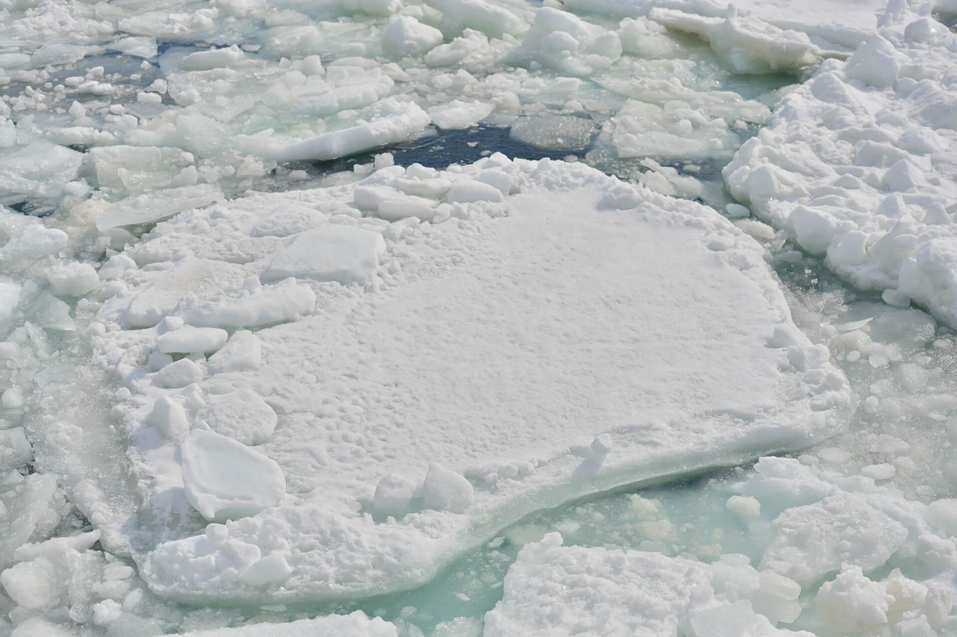 網走、流氷