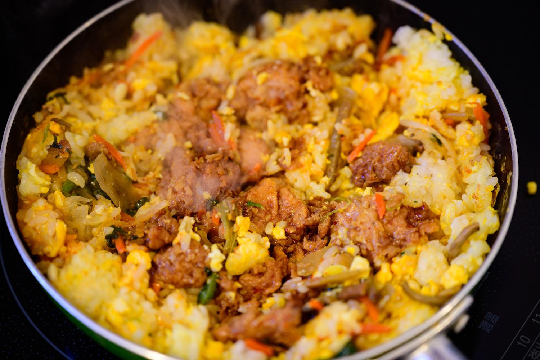 大豆のお肉!7種野菜のビビンバ丼