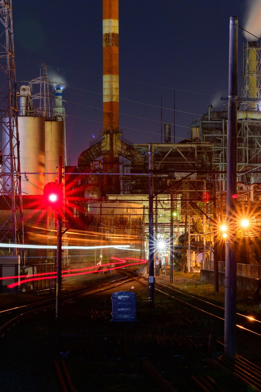 D850 工場夜景