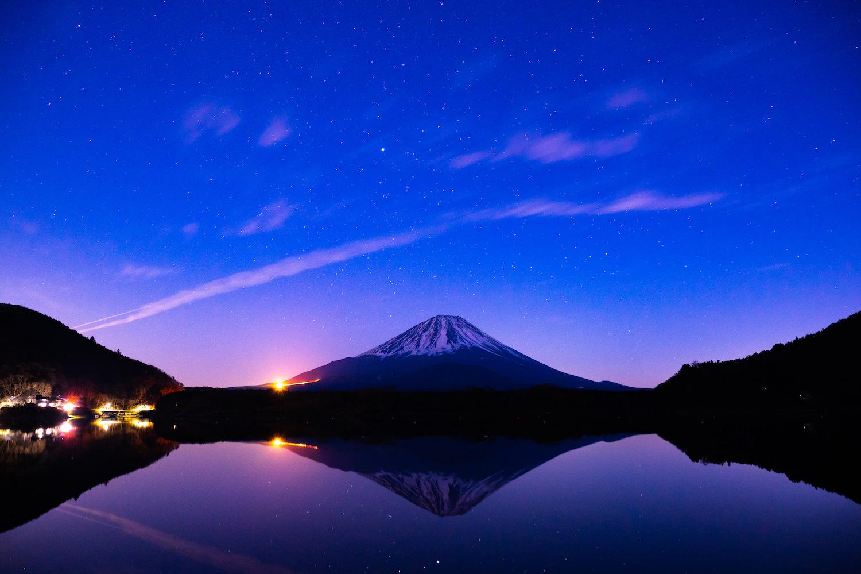 精進湖 富士山